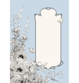 Art Deco Frame Botanical Composition vector image vector image