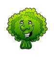 artistic hand drawn broccoli vector image