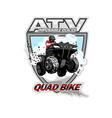 atv quad bike impossible places vector image vector image