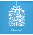 Baby boy birth card vector image vector image