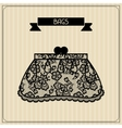 Bags Vintage lace background floral ornament vector image vector image