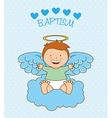 baptism angel design vector image vector image
