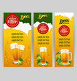 Beer banners vector image vector image