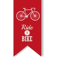 Bike and healthy lifestyle design vector image
