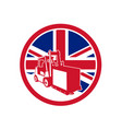 british logistics union jack flag icon vector image vector image
