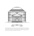 building of Rome vector image vector image