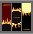 burning fire campfire hot flame strokes realistic vector image