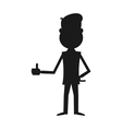 Cartoon businessman silhouette vector image vector image