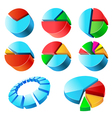 Charts set vector image