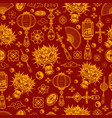 chinese new year elements seamless pattern vector image