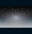 christmas night snowfall sparkle abstract vector image vector image