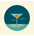 Cocktail icon Summer Beach Sea vector image