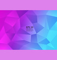 colorful polygon abstract background design fluid vector image vector image