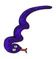 comic cartoon hissing snake vector image vector image
