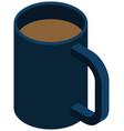 cup coffee or cappuccino warm drink attribute vector image vector image