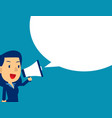 cute man shouting in megaphone concept business vector image