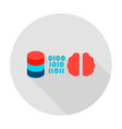data server brain circle icon vector image