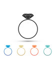 diamond engagement ring icon on white background vector image