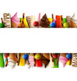 different sweet food border vector image vector image