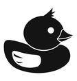 Duck icon in simple style vector image vector image