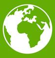 earth globe icon green vector image vector image