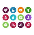 Finance circle icons on white background vector image vector image