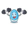 fitness oxygen mask character cartoon vector image