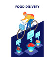 food products delivery isometric poster template vector image vector image