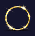 golden ring icon vector image vector image