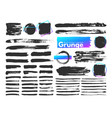 grunge brush strokes watercolor paintbrush stroke vector image vector image