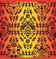 hand drawn seamless pattern with tribal mask vector image vector image