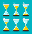 hourglass icon sand clocks set sandglass symbol vector image vector image