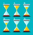 hourglass icon sand clocks set sandglass symbol vector image