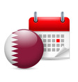 Icon of national day in qatar vector image vector image
