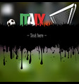 italy with a soccer ball and gate vector image vector image