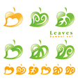 leaves symbol set vector image vector image