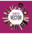 Makeup cosmetics tools Fashion background vector image