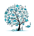 Marine life concept tree for your design vector image
