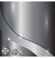 metal steel background vector image vector image