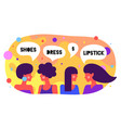 modern flat character friends women say simple vector image vector image