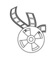 movie roll reel vector image vector image