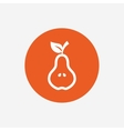 Pear with leaf sign icon Fruit symbol vector image vector image