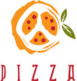 pizza in peace symbol form design template vector image vector image