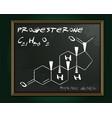 progesterone molecule image vector image vector image