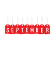red september tags vector image vector image