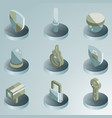 security color isometric icons vector image vector image
