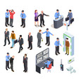 security system isometric concept secure police vector image