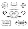 Set of decorative frames related to Valentines day vector image vector image