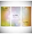 Set of vertical banners Abstract multicolored vector image vector image