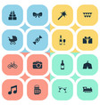 set simple birthday icons vector image vector image